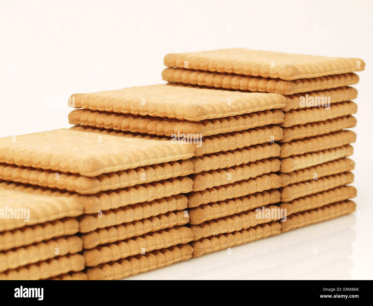 Tasty biscuits background - Stock Image