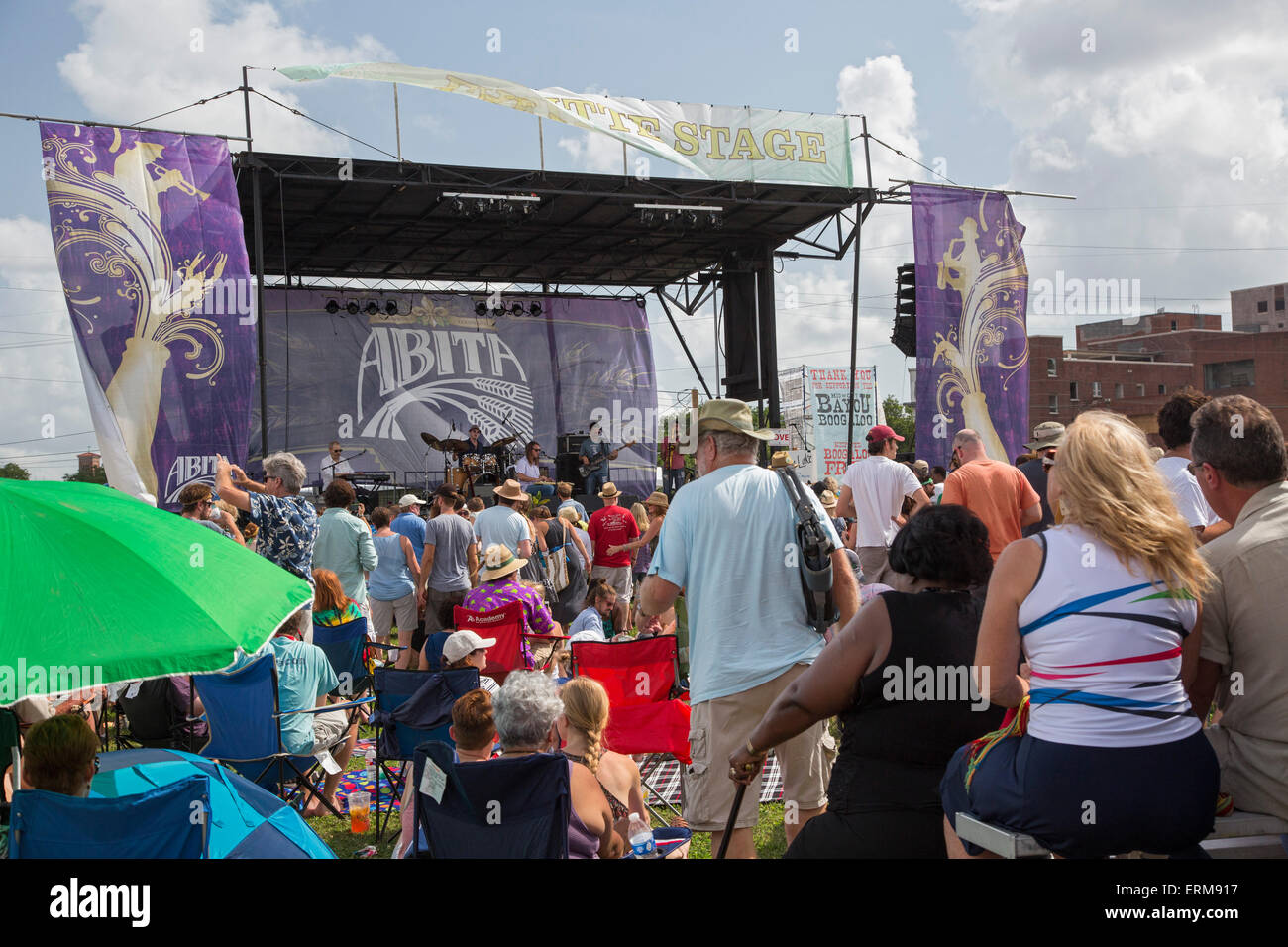 New Orleans, Louisiana - The Mid-City Bayou Bougaloo, an annual neighborhood music and arts festival. - Stock Image