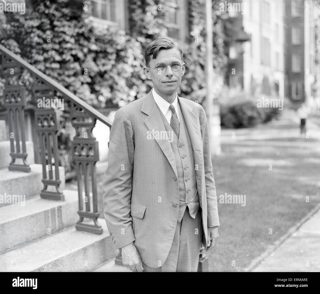 Antique 9/6/1933 photograph, James Bryant Conant, new President of Harvard University. James Bryant Conant (1893 - Stock Image