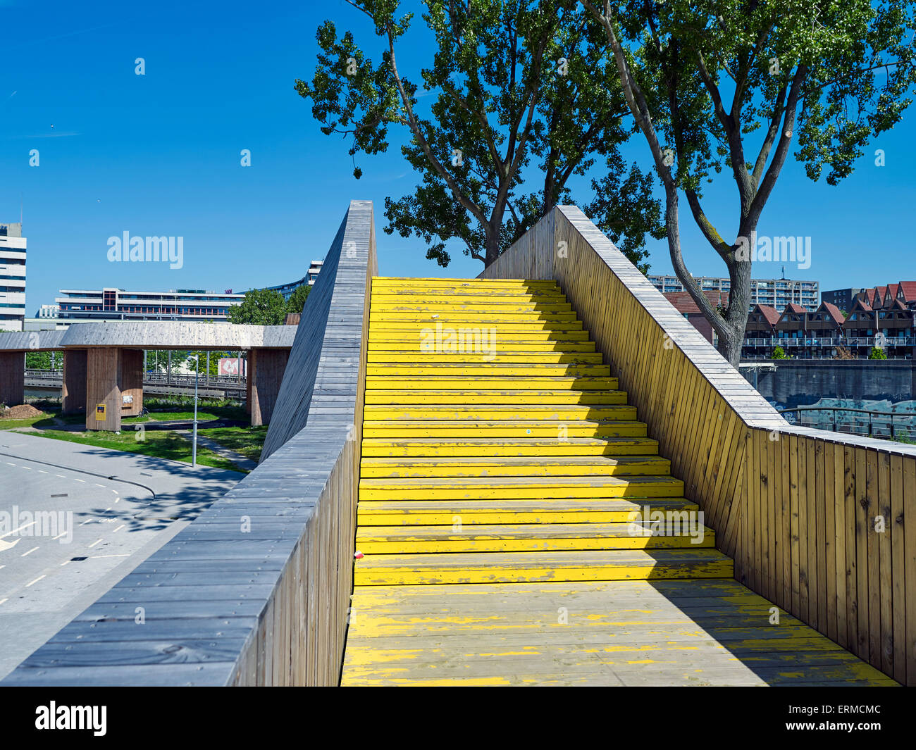 De Luchtsingel in Rotterdam, The Netherlands, a connection between Rotterdam North and the center of Rotterdam. - Stock Image