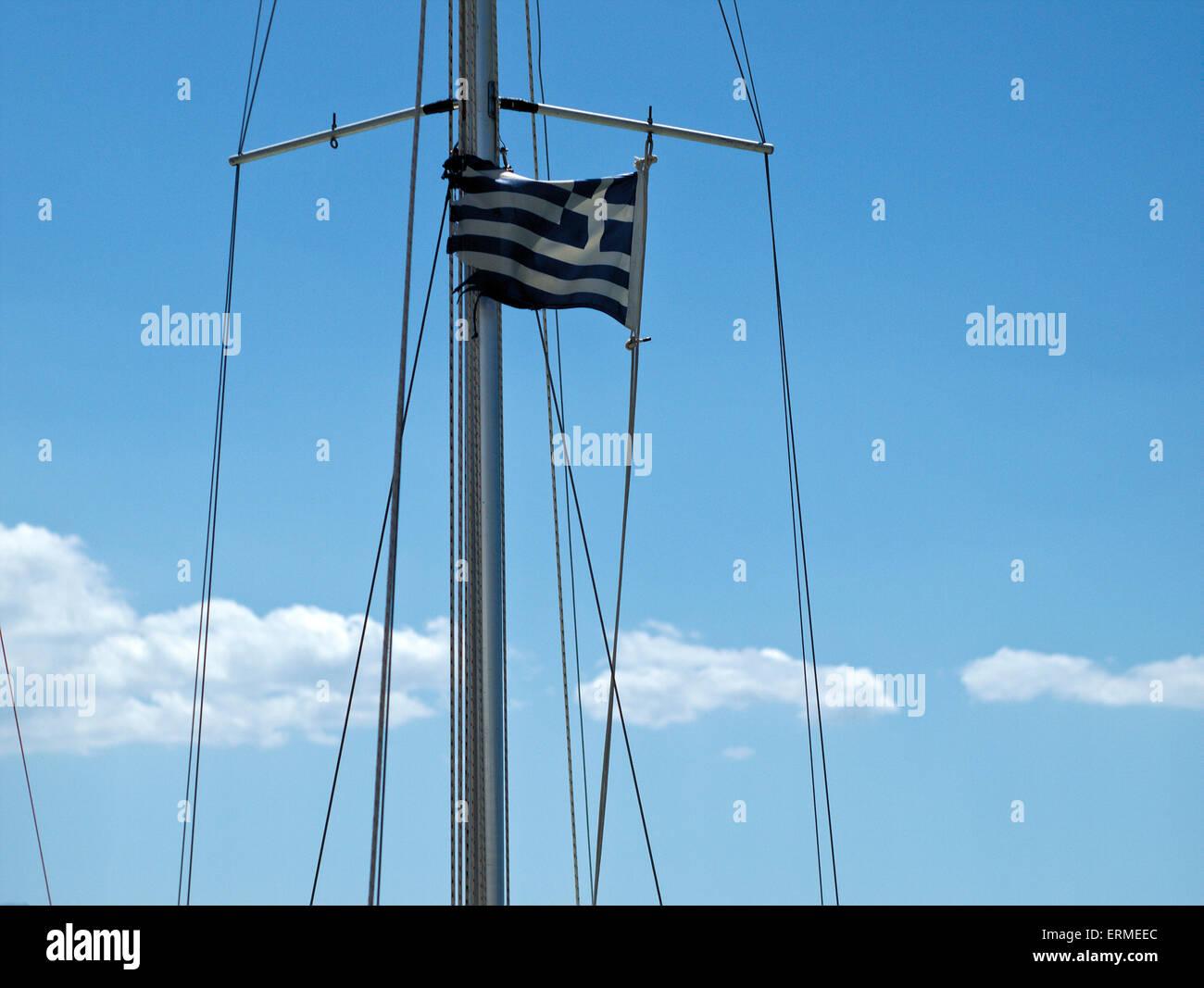 Greek flag - Stock Image