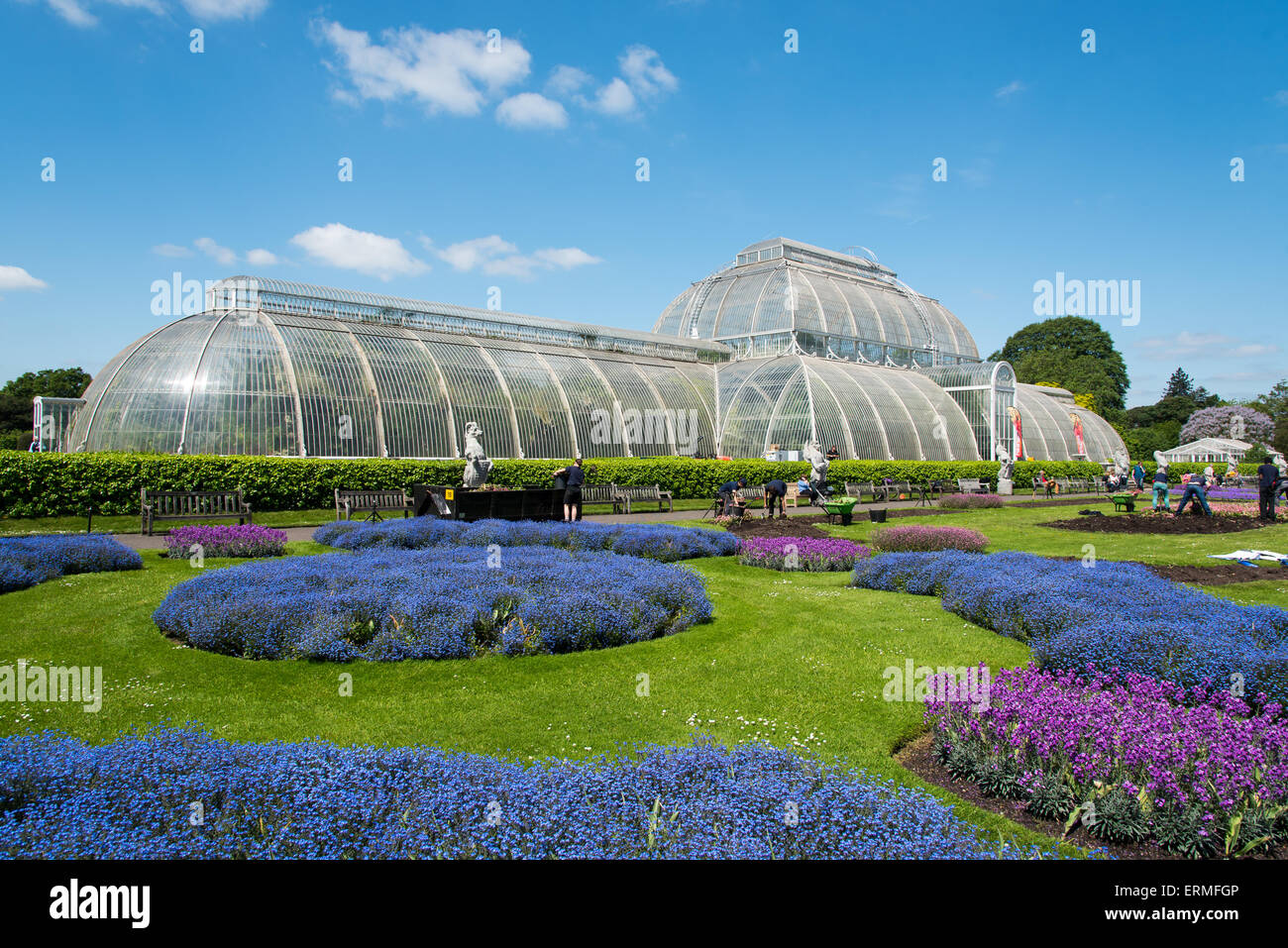 The Palm House at Kew Gardens, London - Stock Image