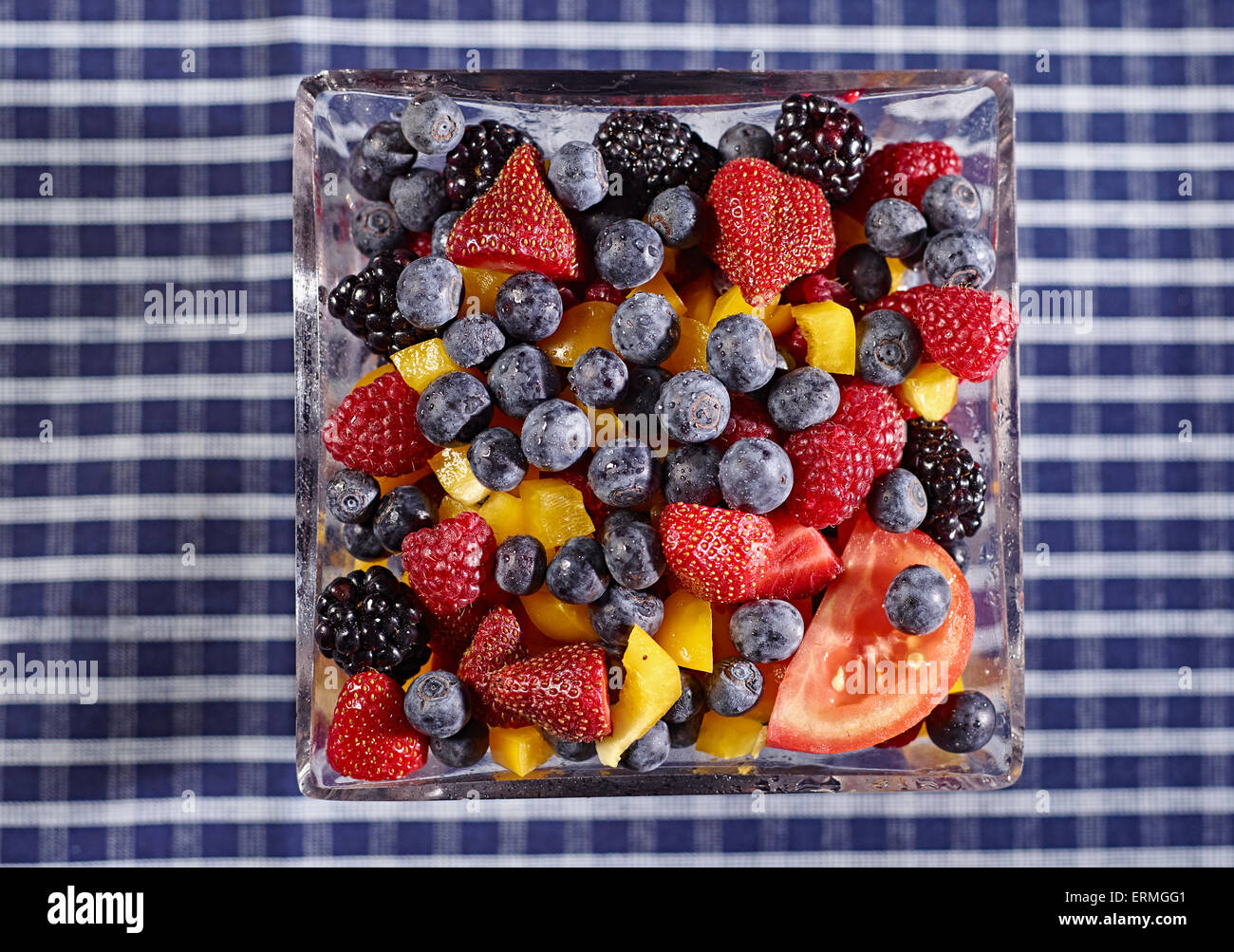 Fresh,Abundance,Bowl,Studio,Fruit - Stock Image