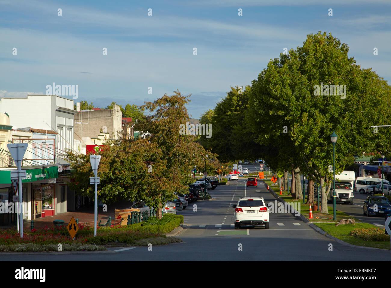 Victoria Street, Cambridge, Waikato, North Island, New Zealand - Stock Image