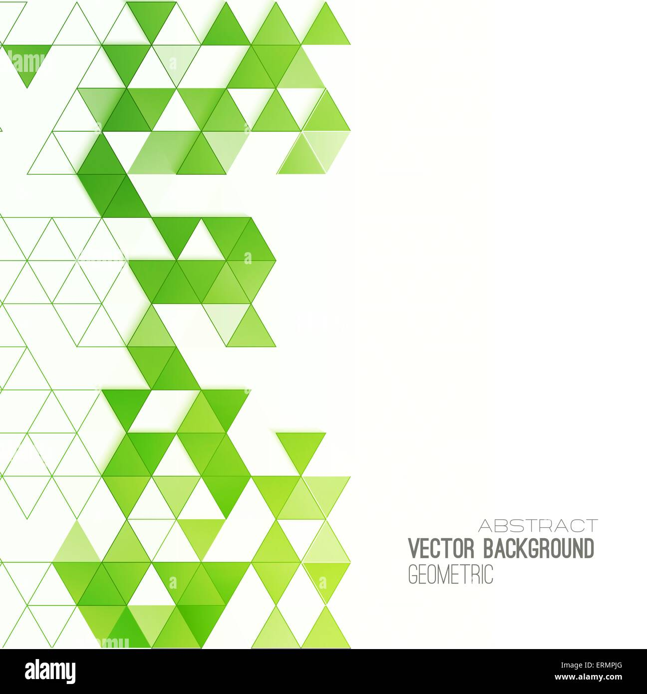 Abstract geometric background with color triangles  Vector