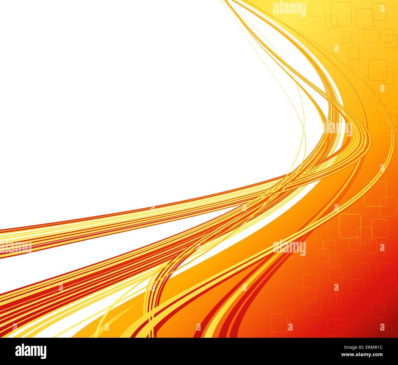 vector abstract orange color curved lines background technology stock vector art illustration. Black Bedroom Furniture Sets. Home Design Ideas
