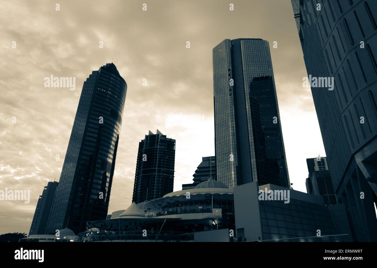 Skyscrapers Brisbane CBD - Stock Image