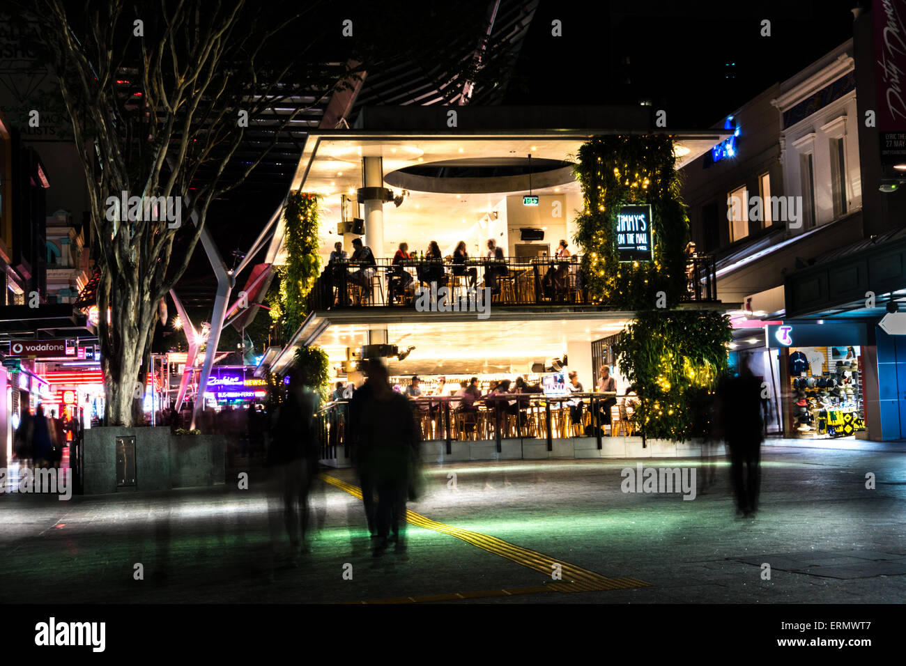 Jimmy's on the Mall Brisbane - Stock Image
