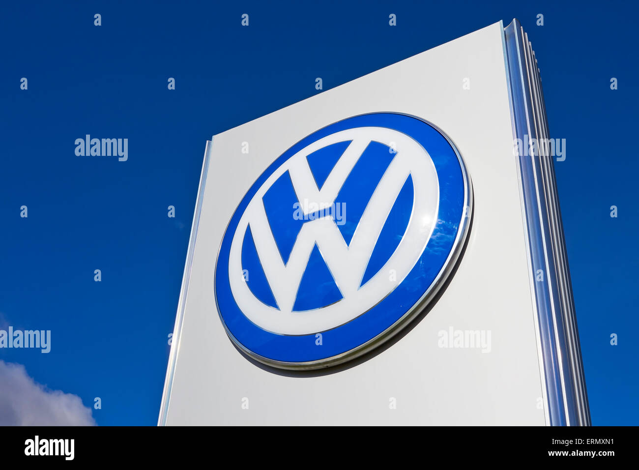 VW signboard - Stock Image