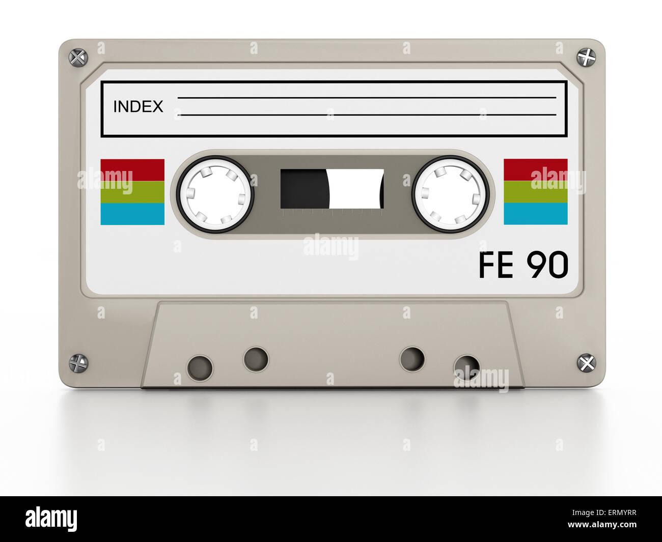 Retro audio cassette - Stock Image