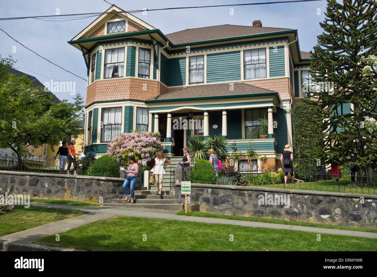 People Visiting One Of The Homes On 2015 Heritage Tour In New Westminster