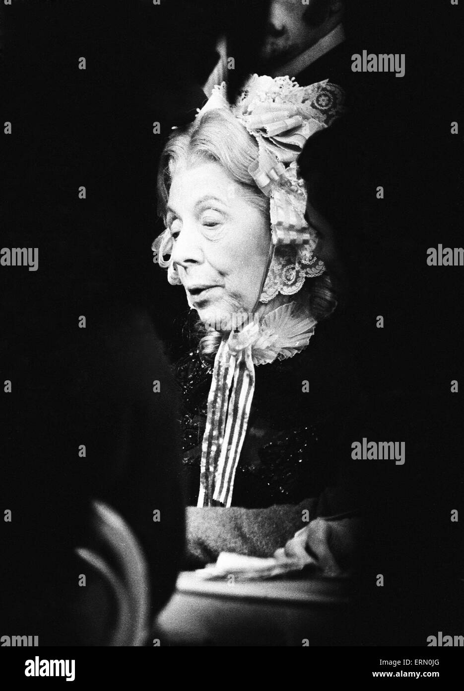 Dame Edith Evans seen here during rehearsals of The Gamblers. 27th December 1967 - Stock Image
