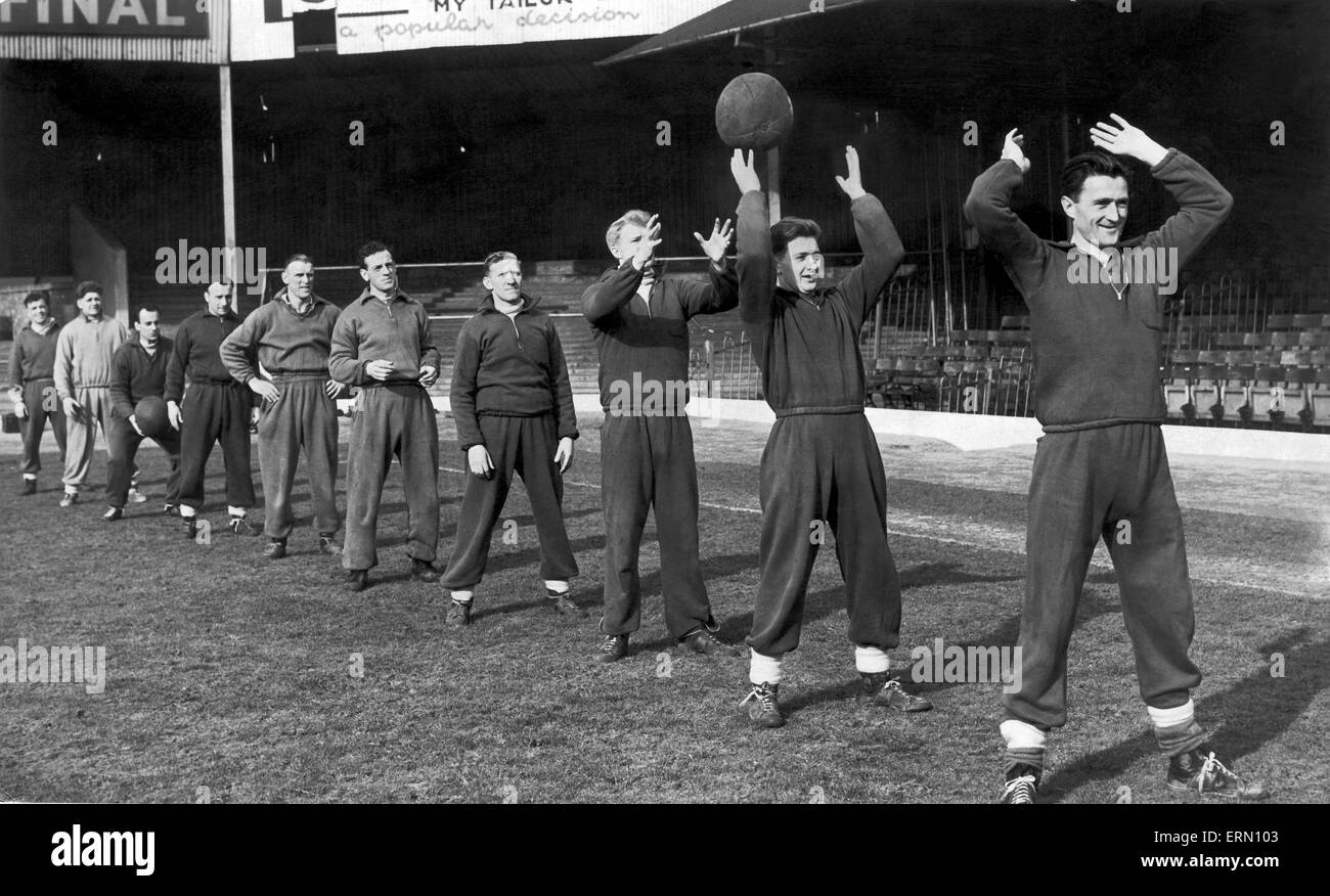 Birmingham City training at St Andrews 26th February 1953. - Stock Image