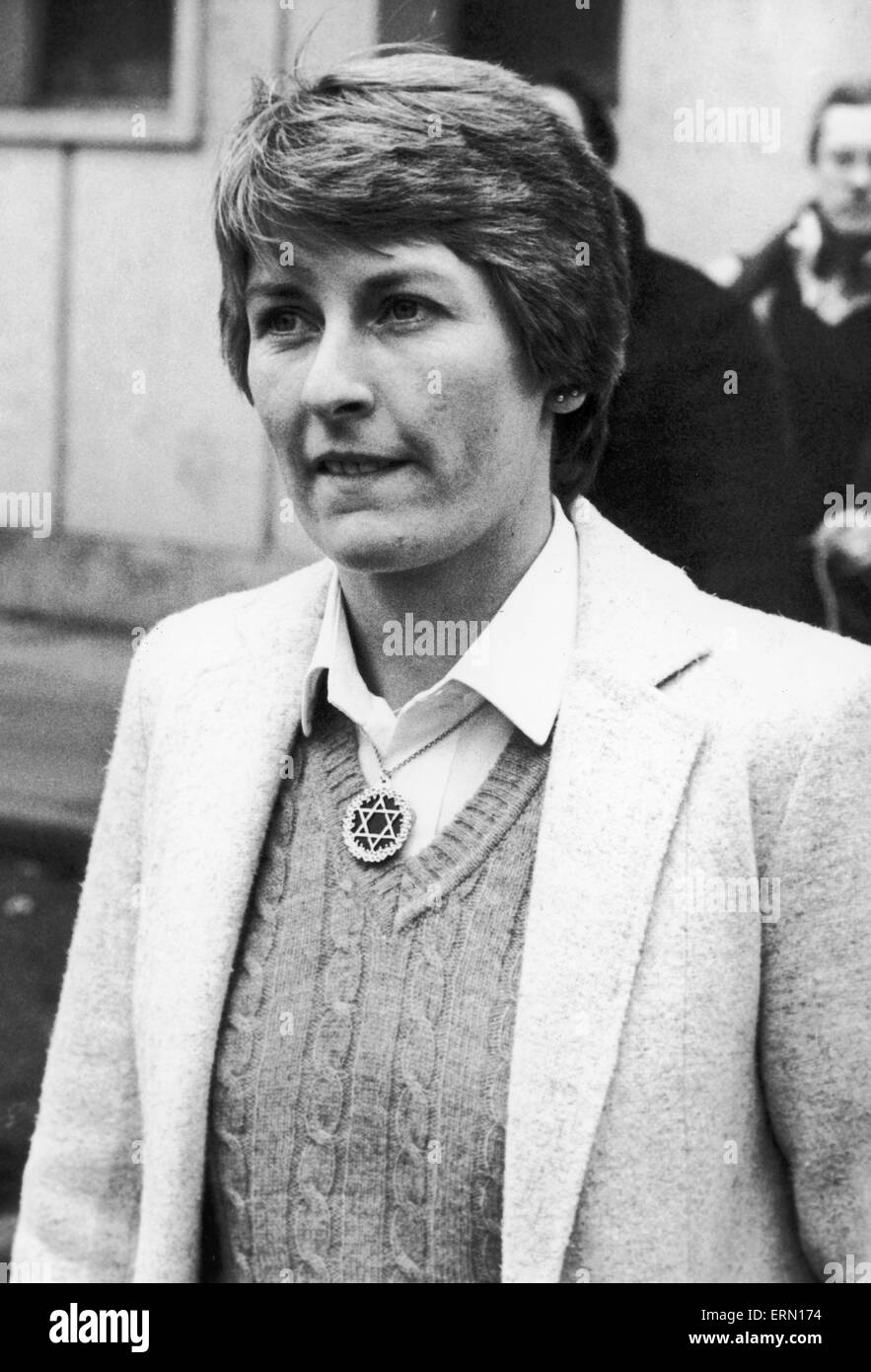 Janet Ross, former Secretary of actress Julie Goodyear, March 1982. - Stock Image