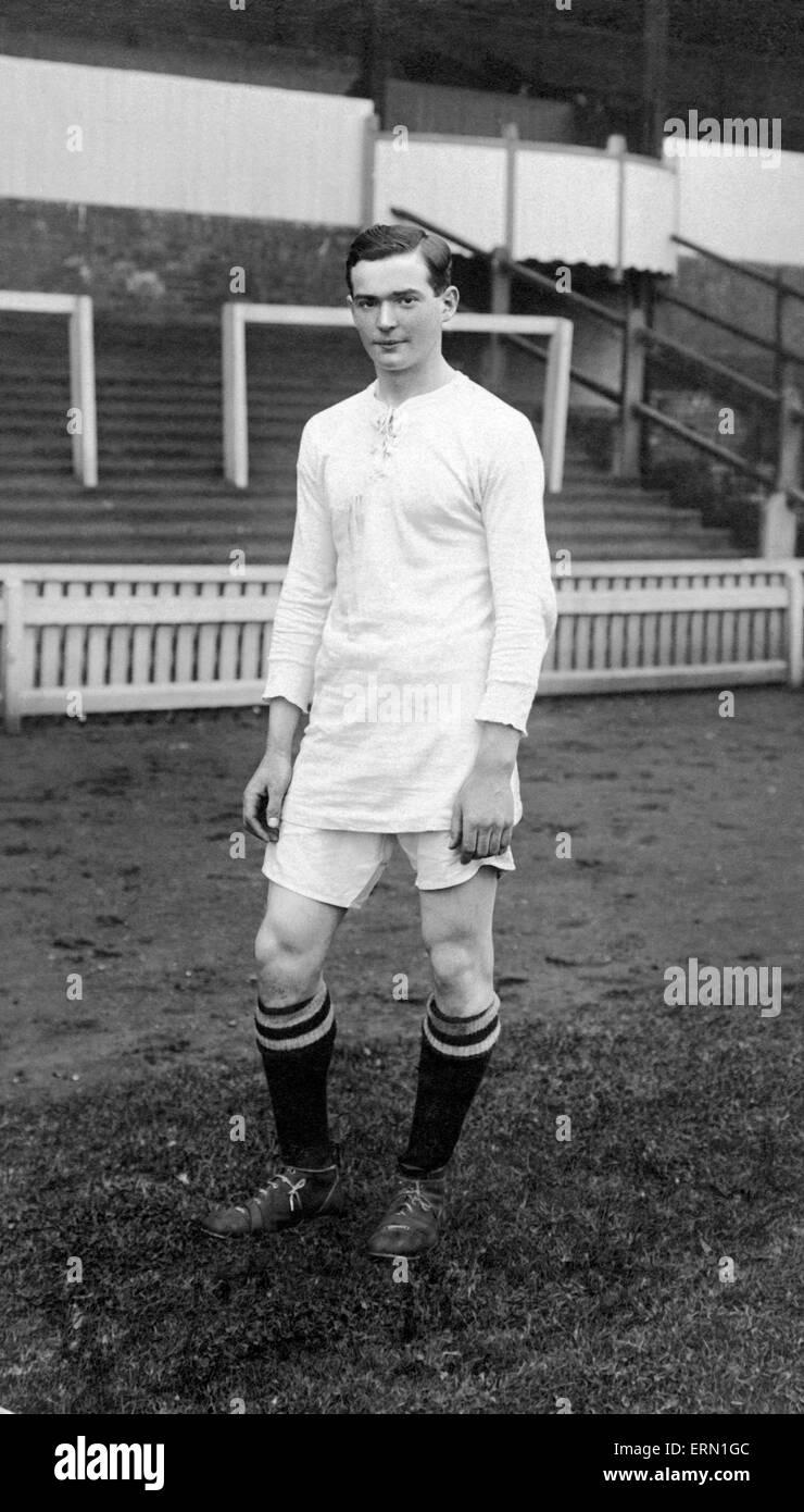 Birmingham City football star Joe Bradford, pictured circa 1920. - Stock Image