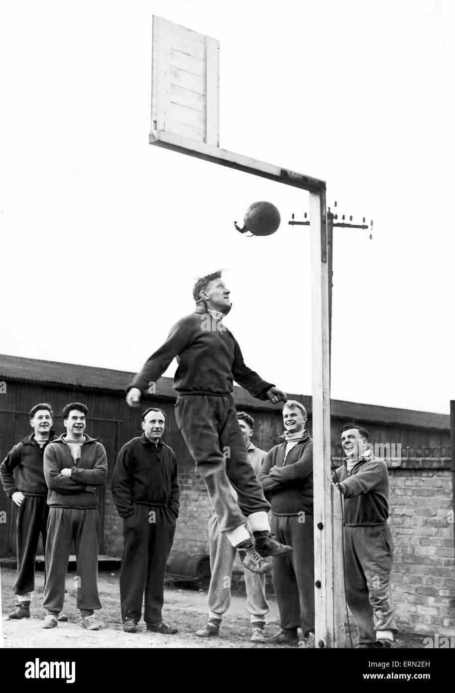 Birmingham City training. 26th November 1953. - Stock Image