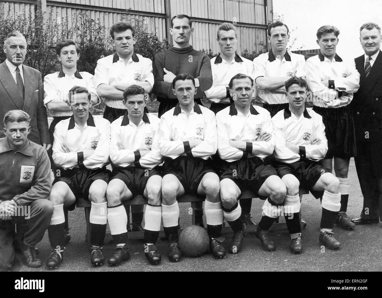 Birmingham City team, 1956. Stock Photo