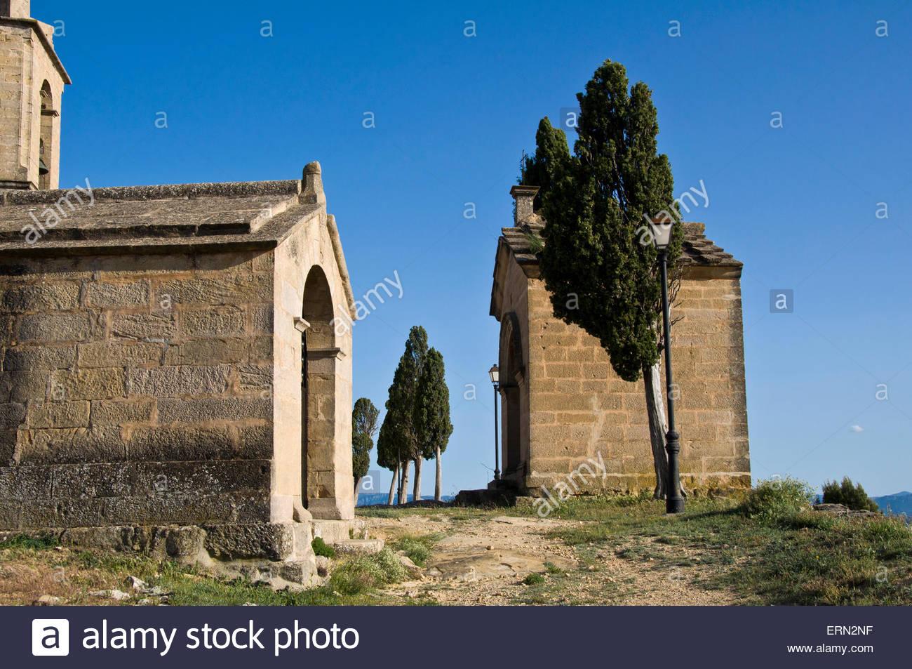Ermita de San Cristóbal Calaceite, Matarraña region, Teruel, Aragon Community Spain - Stock Image