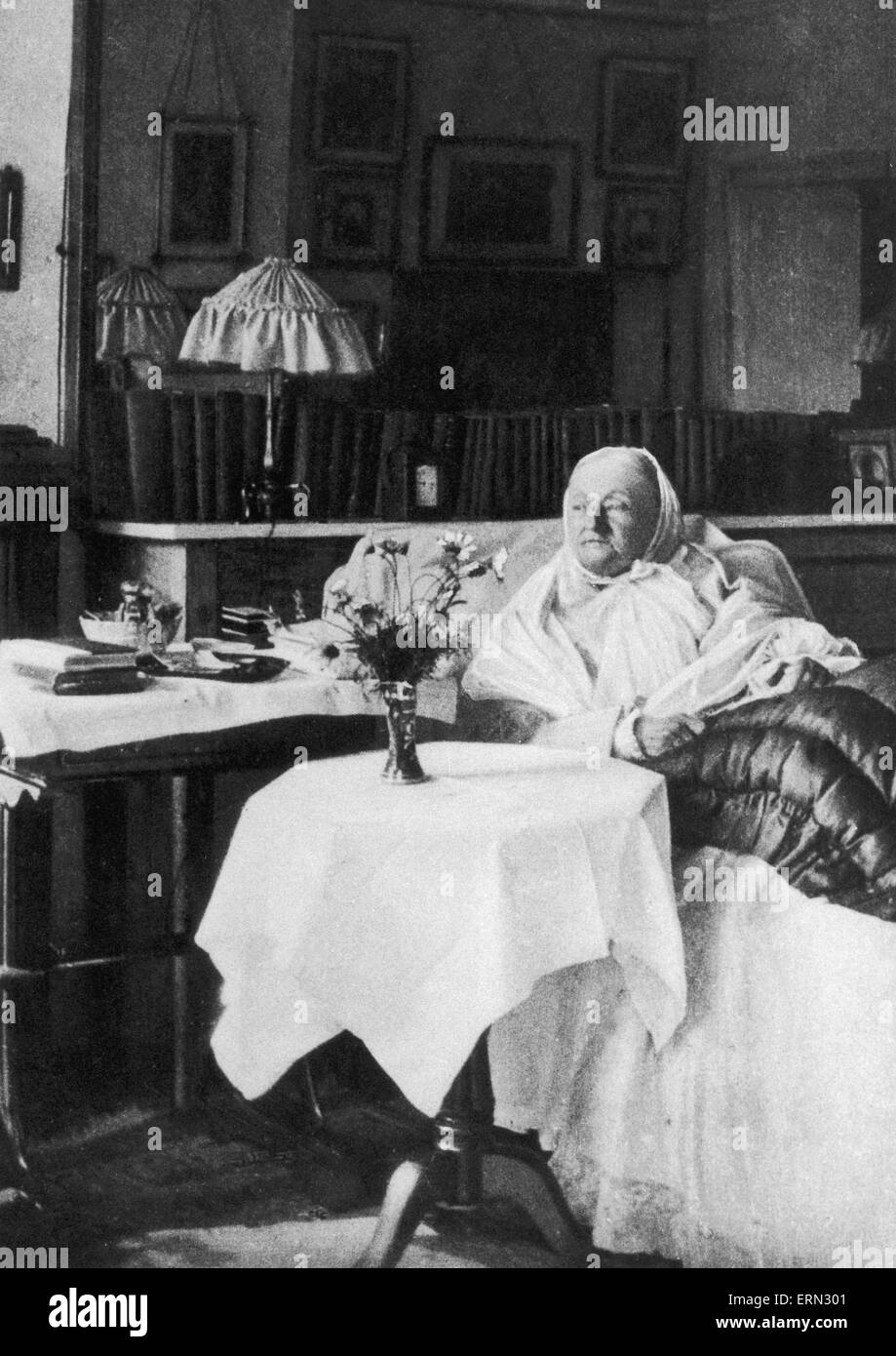 Florence Nightingale founder of modern nursing, seen here in her room in South Street Circa 1906 - Stock Image