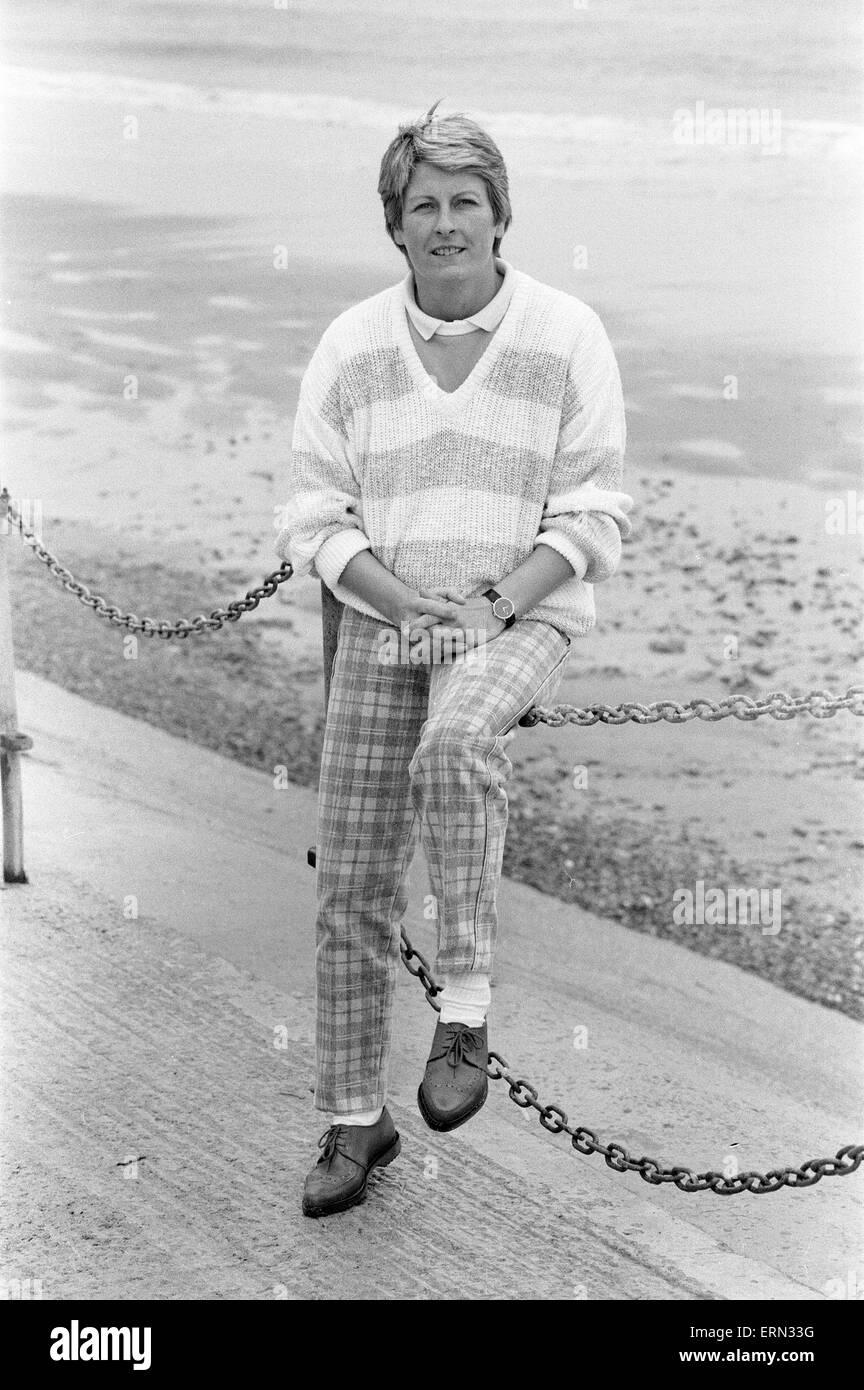 Janet Ross, former Secretary of actress Julie Goodyear, October 1986. - Stock Image