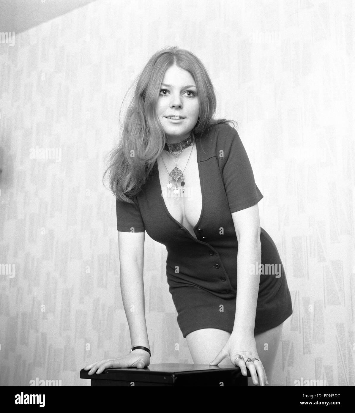 Maureen Murphy, Kibblesworth in Tyne and Wear, 30th November 1970. - Stock Image