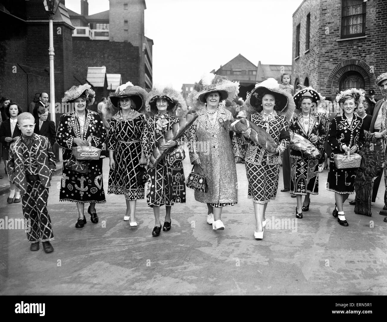 Costers Thanksgiving Service, London, 3rd October 1954. - Stock Image