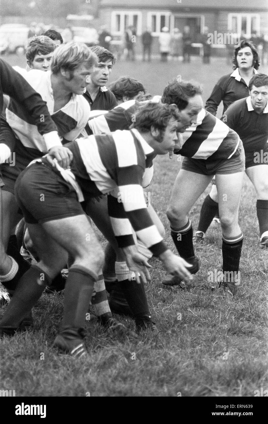 Stoke Old Boys v Phil Judd 15 Rugby Match, 28th September 1971 - Stock Image