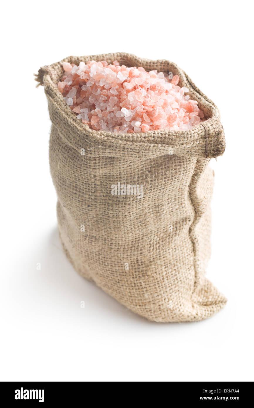 Himalayan salt in the bag - Stock Image