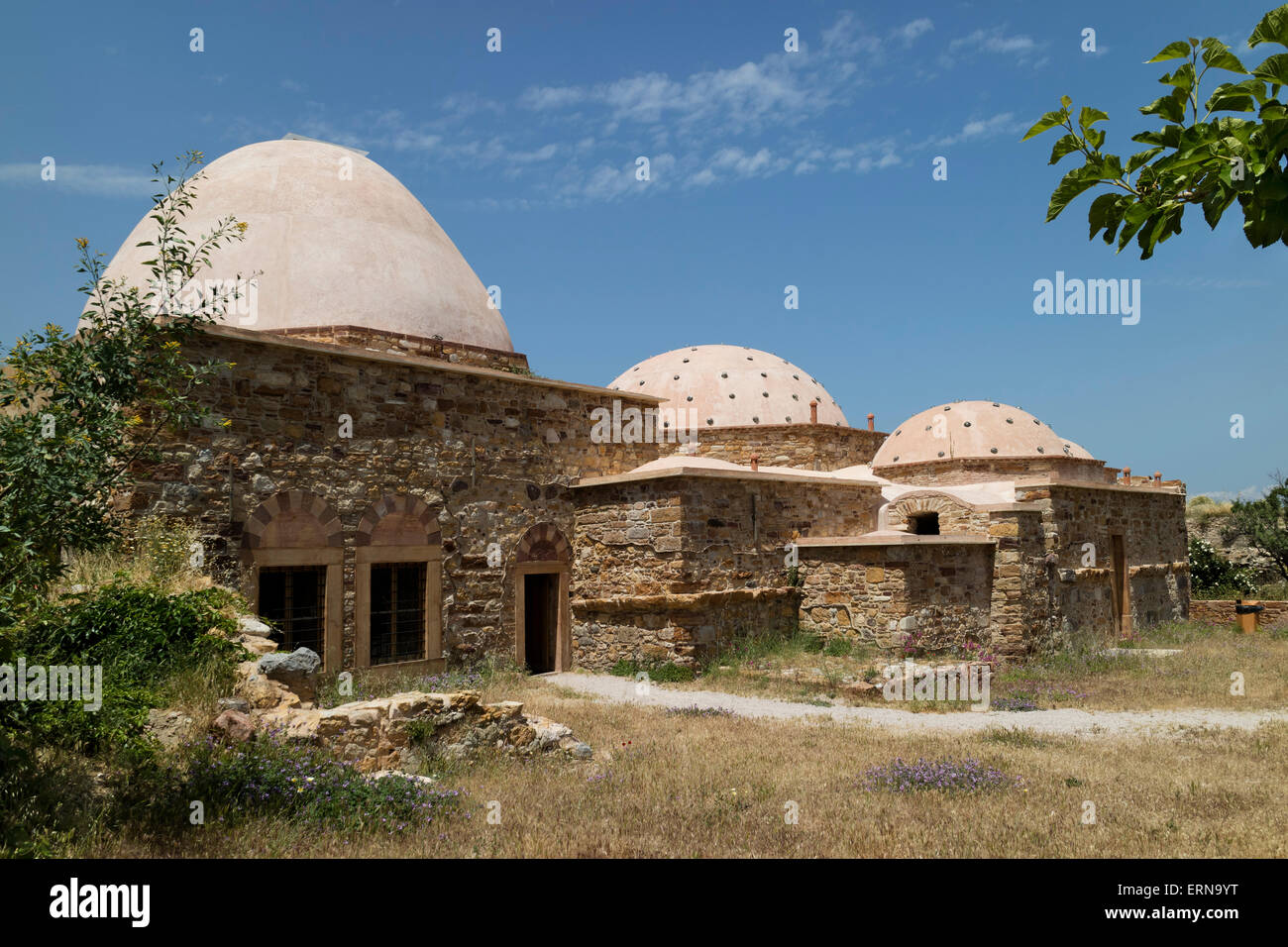 Restored Ottoman hammam in the city of Chios on the isle of Chios, Greece - Stock Image