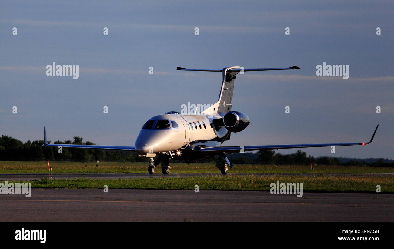 Embraer EMB-505 Phenom 300 N571EE at YOW Ottawa Canada, June 4, 2015 - Stock Image