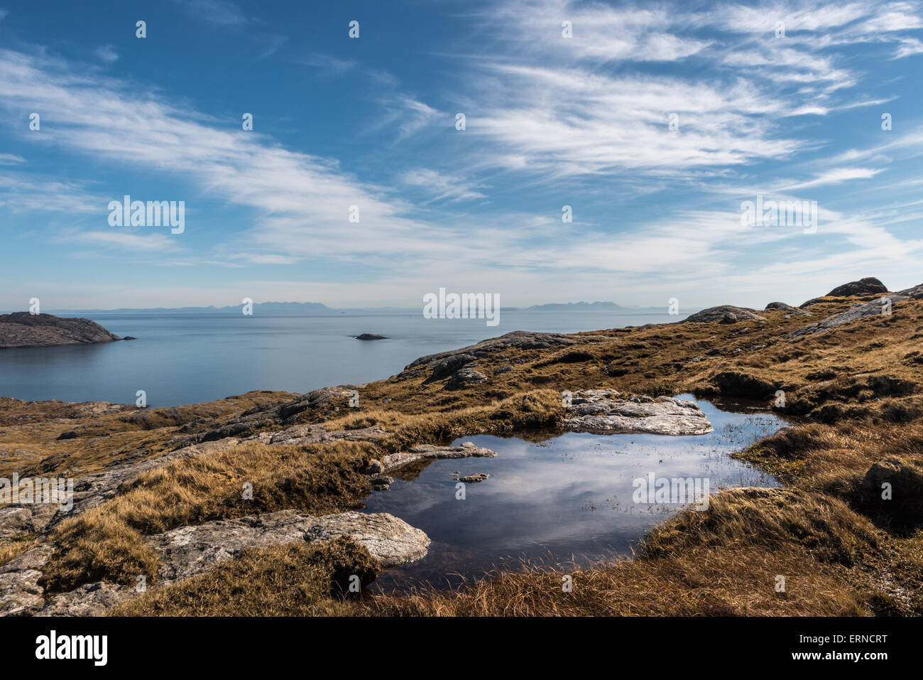 Looking across The Minch from Eriskay Stock Photo