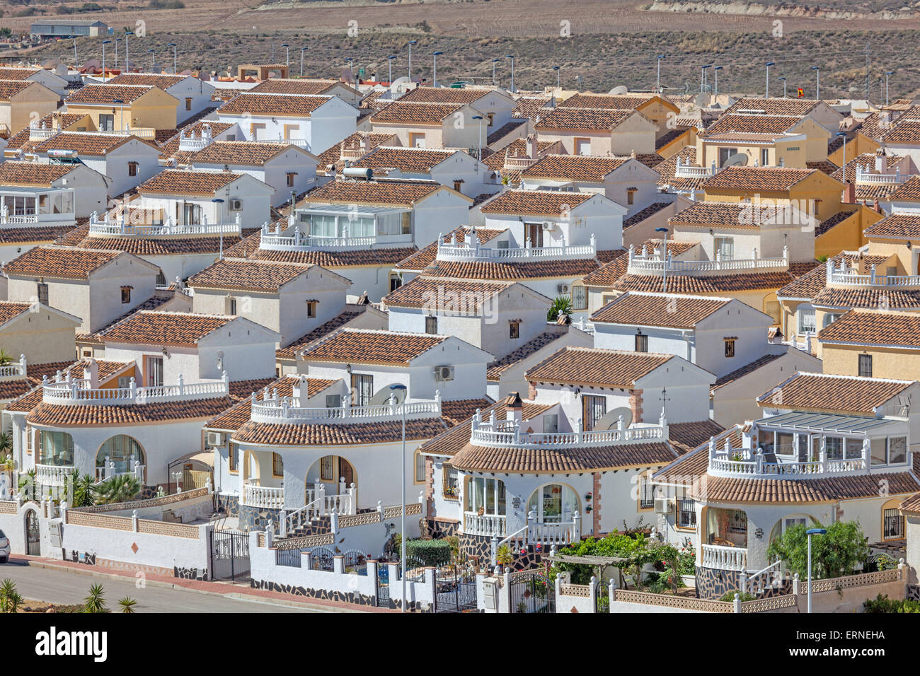 Vacation homes in the urbanisation Camposol, Region Murcia, Spain - Stock Image