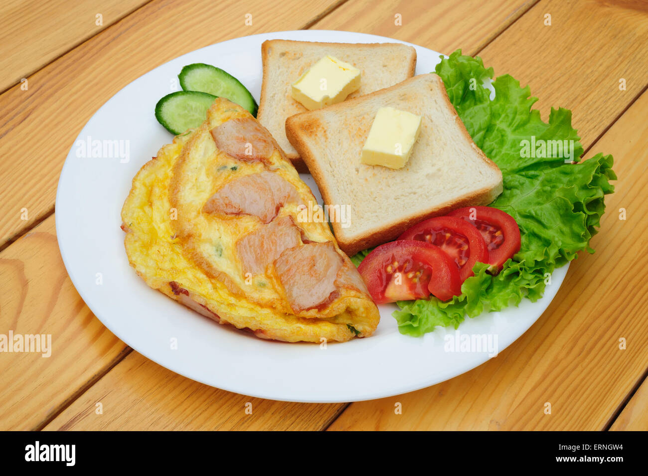 fresh country omelette - Stock Image