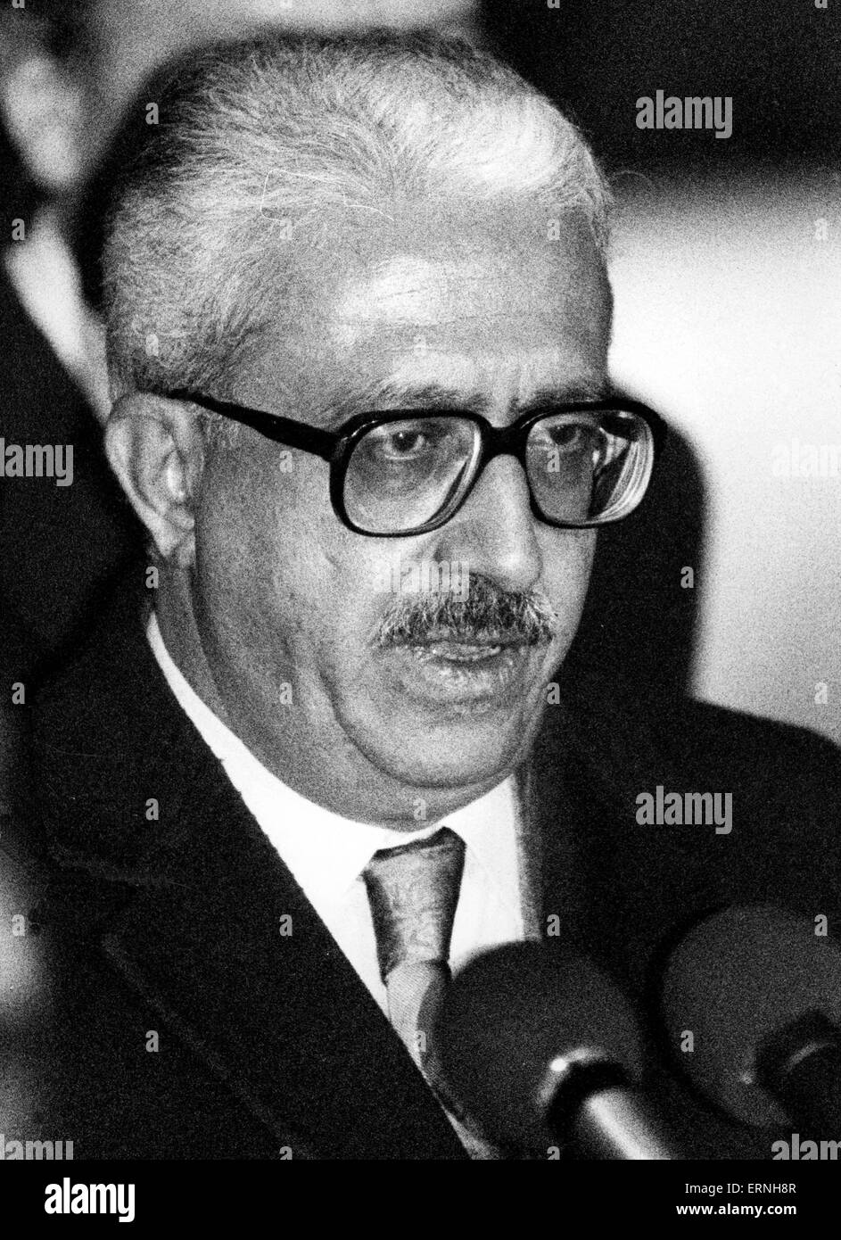 June 5, 2015 - Tariq Aziz, Saddam Hussein's deputy prime minister and close adviser has died at a hospital in - Stock Image