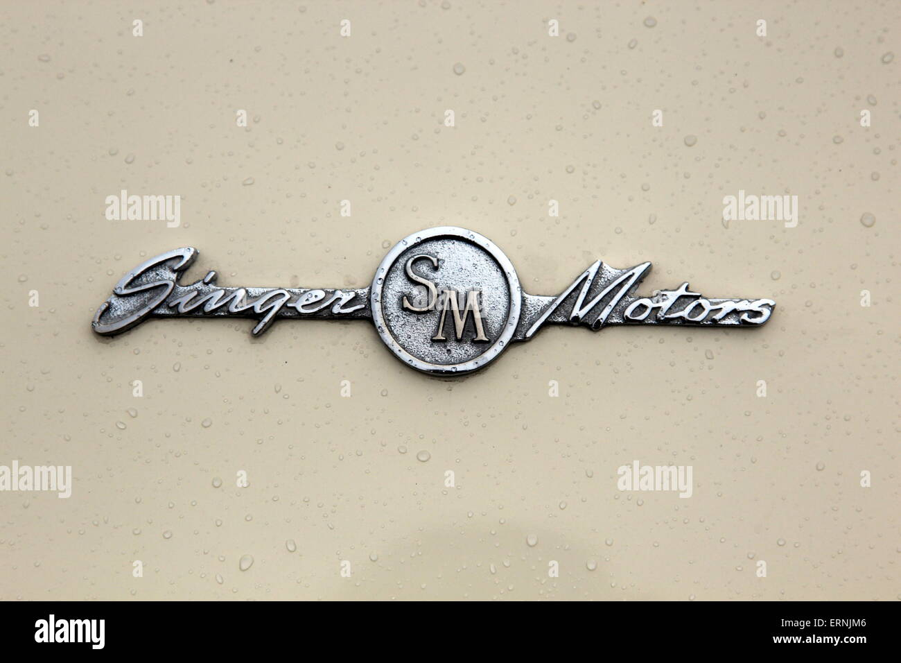 Singer Motors logo on a car - Stock Image