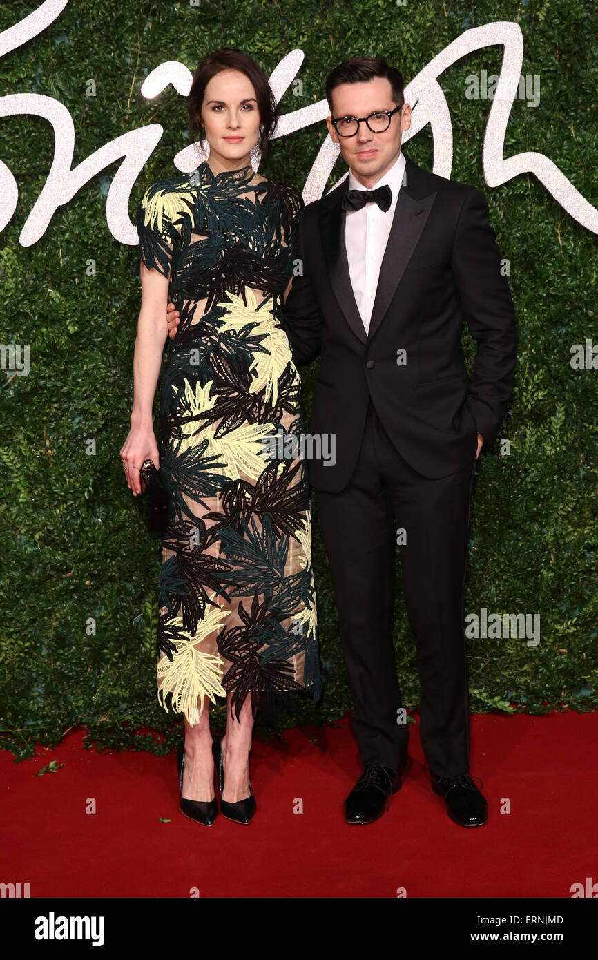The British Fashion Awards 2014 held at London Coliseum - Arrivals  Featuring: Michelle Dockery, Erdem Moralioglu - Stock Image