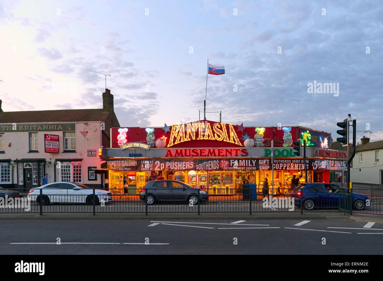 Fantasia Amusements Southend On Sea, Essex - Stock Image