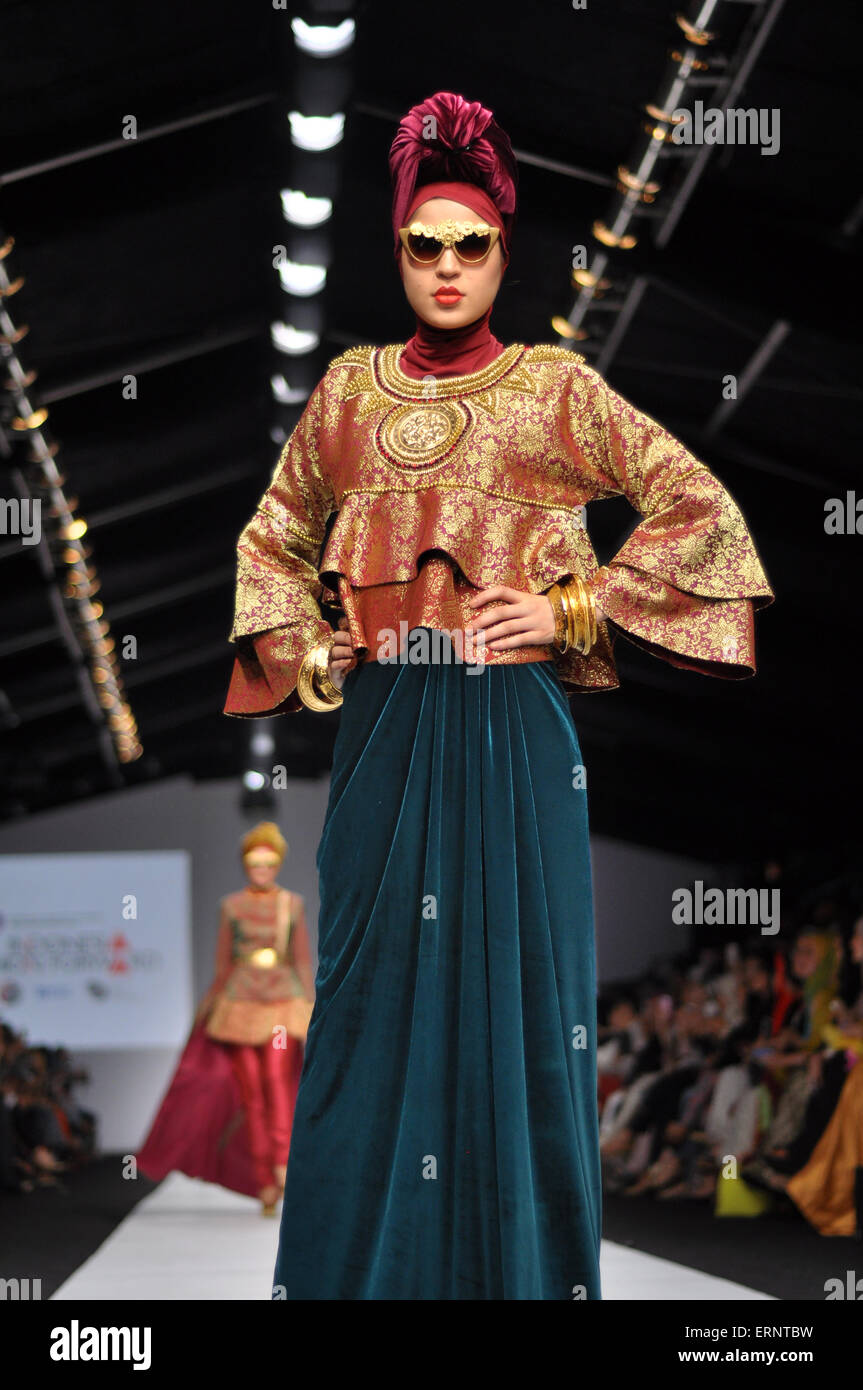 Hijab Collection Design By Dian Pelangi Stock Photo - Alamy