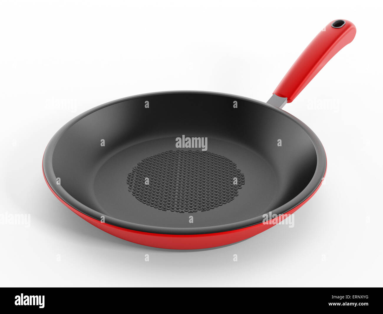 Frying pan isolated on white background - Stock Image