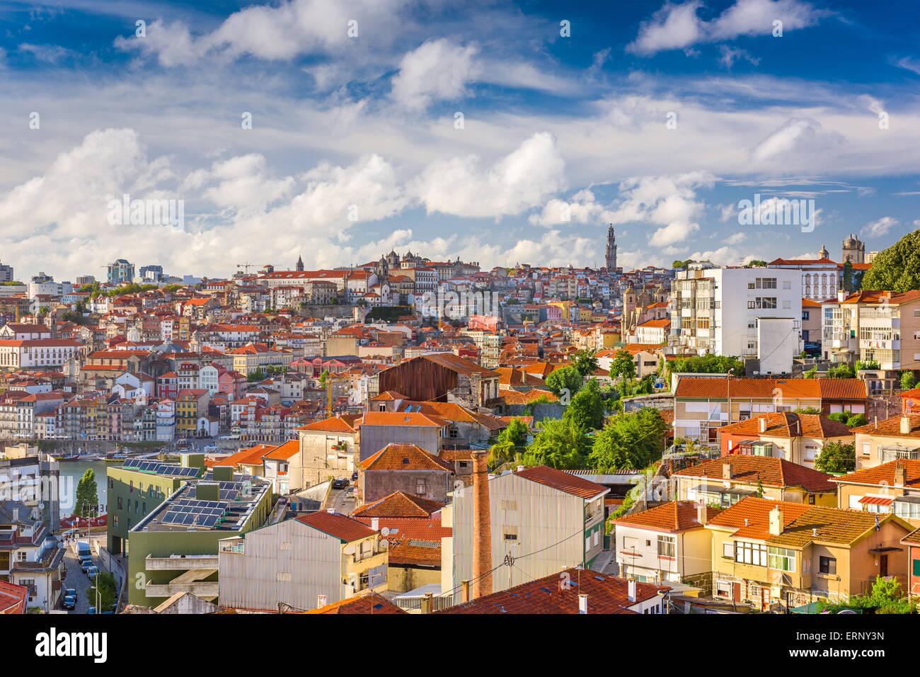 Porto, Portugal Cityscape from Vila Noval de Gaia. - Stock Image