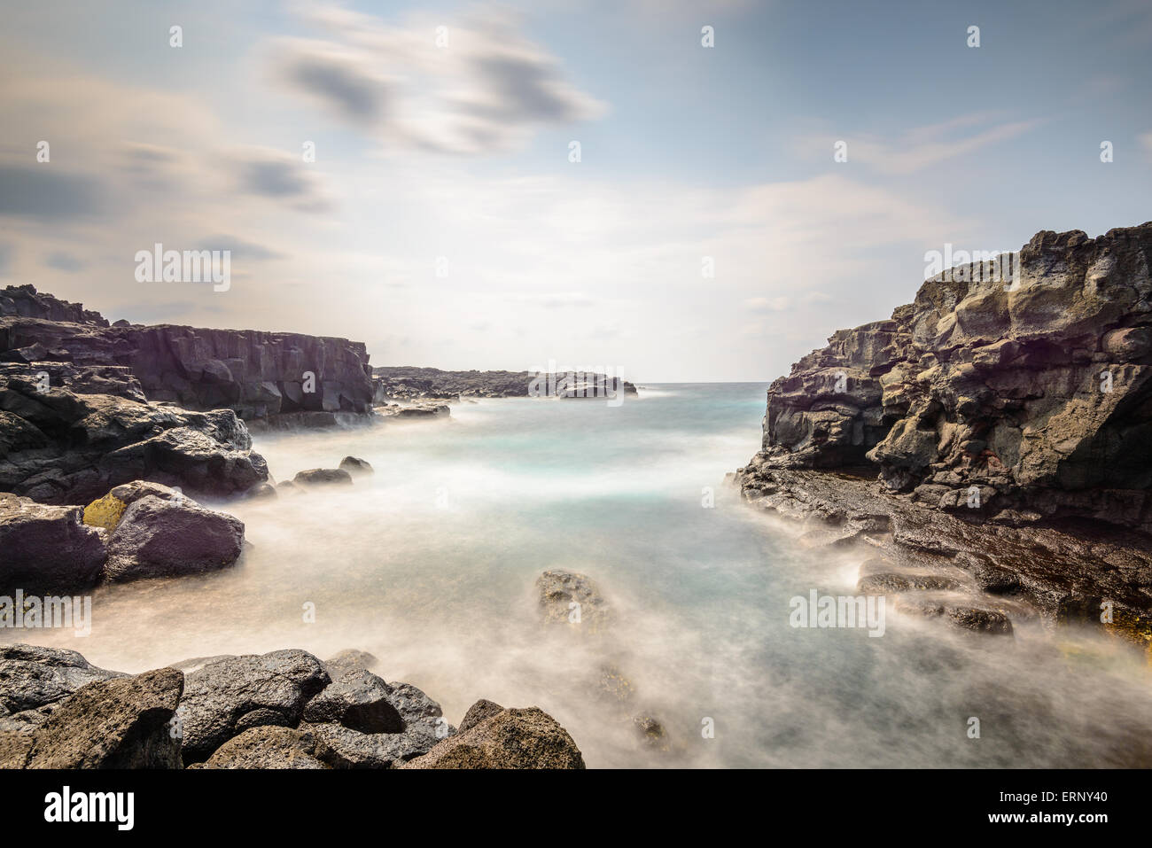 Hachijojima, Japan coast. - Stock Image