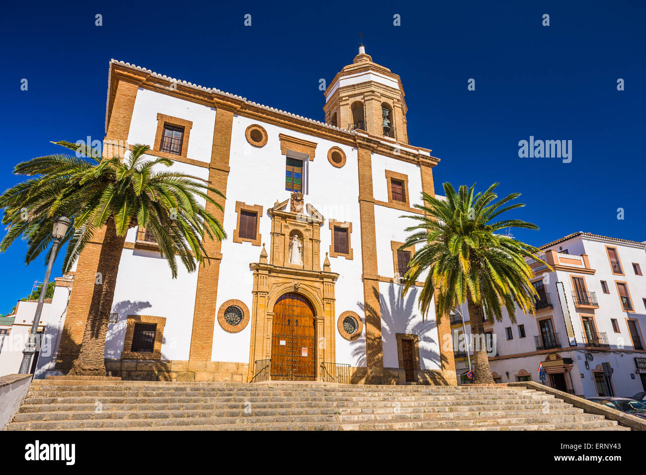 Ronda, Spain at The Merced Carmelite Convent. - Stock Image
