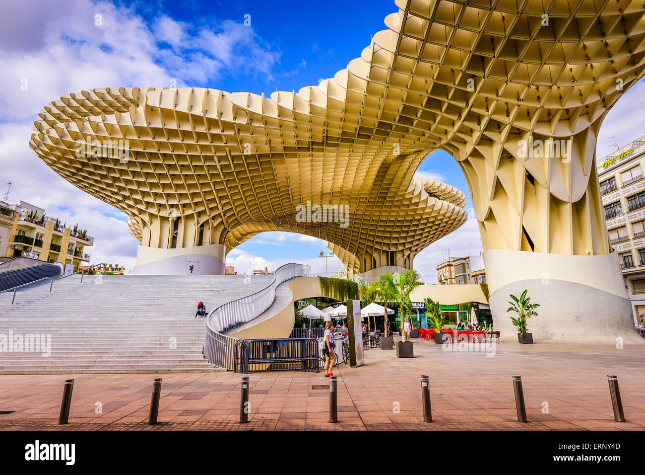 The Metropol Parasol walkway in Seville, Spain. - Stock Image