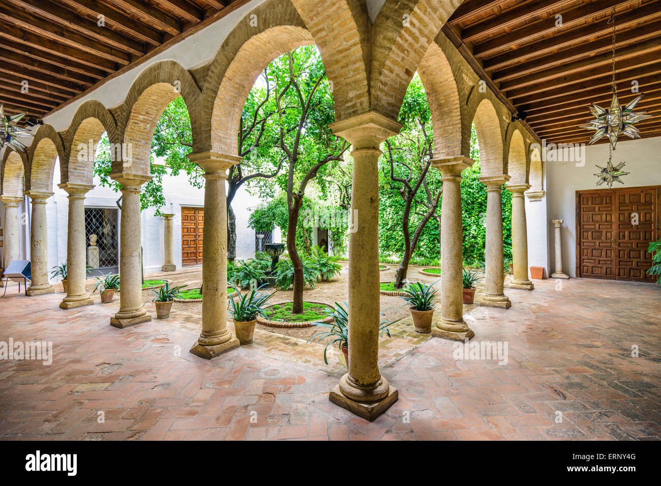 Viana Palace at the courtyard gardens in Cordoba, Spain. Stock Photo