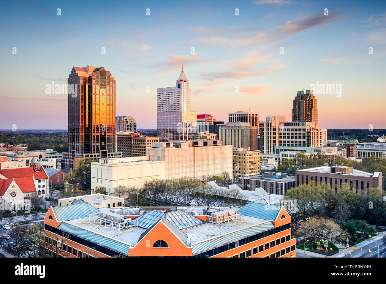 Raleigh, North Carolina, USA downtown city skyline. - Stock Image