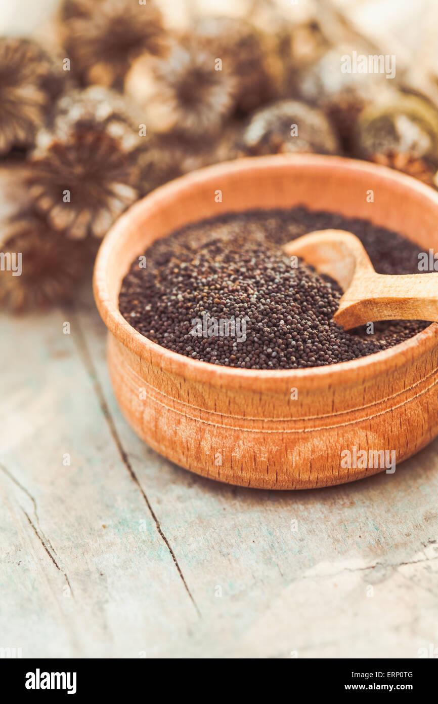 poppy seeds - Stock Image