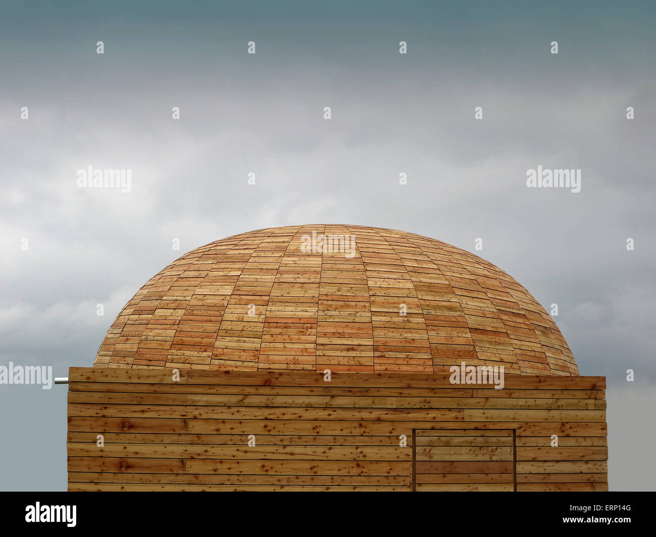 dome-shaped chapelle by wood - Stock Image