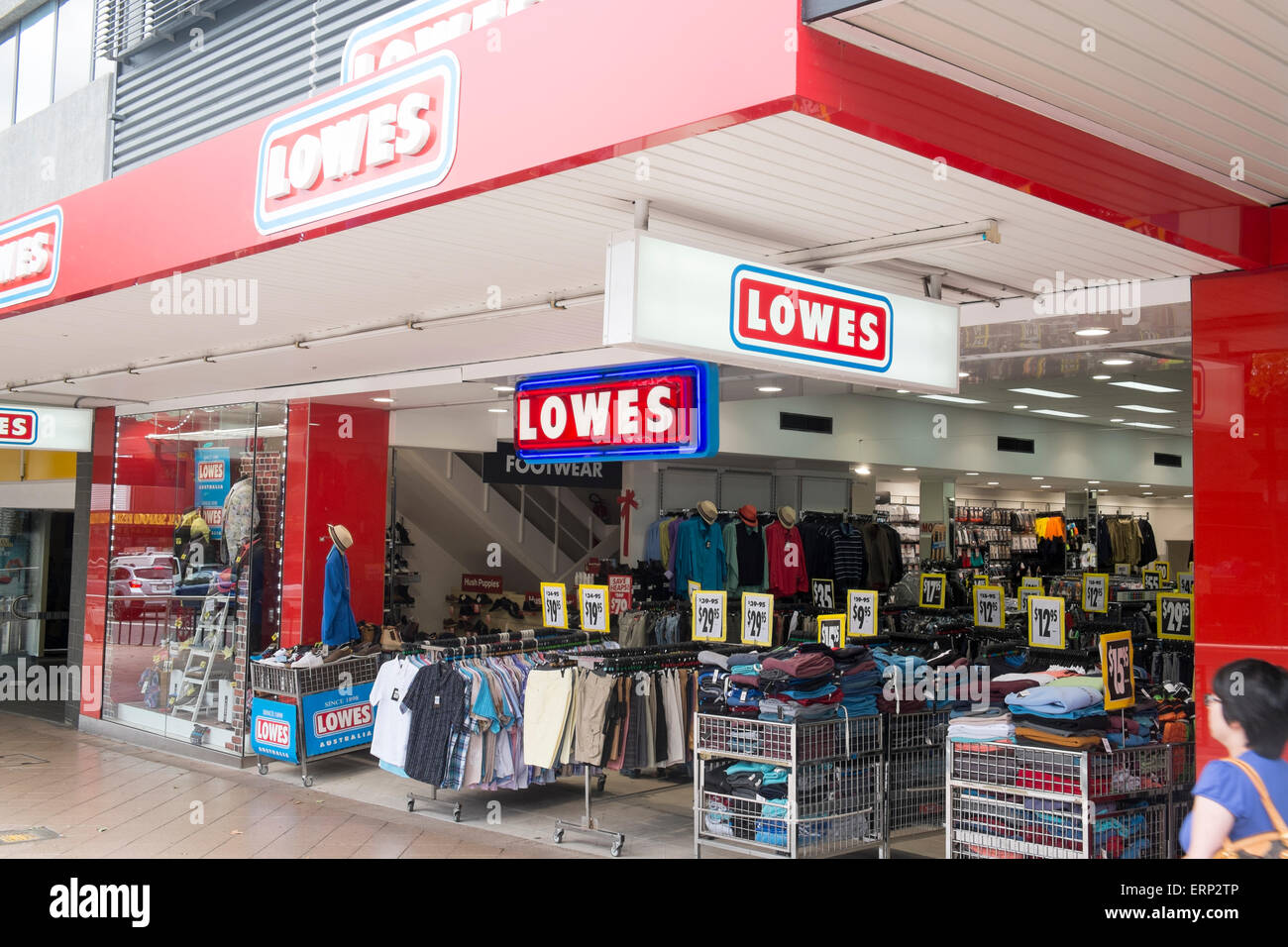 lowes discount clothing store shop in chatswood a suburb of stock photo 83463766 alamy. Black Bedroom Furniture Sets. Home Design Ideas