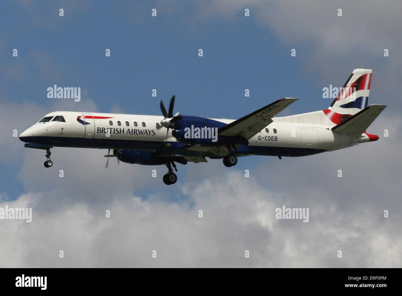 BRITISH AIRWAYS SAAB 2000 - Stock Image