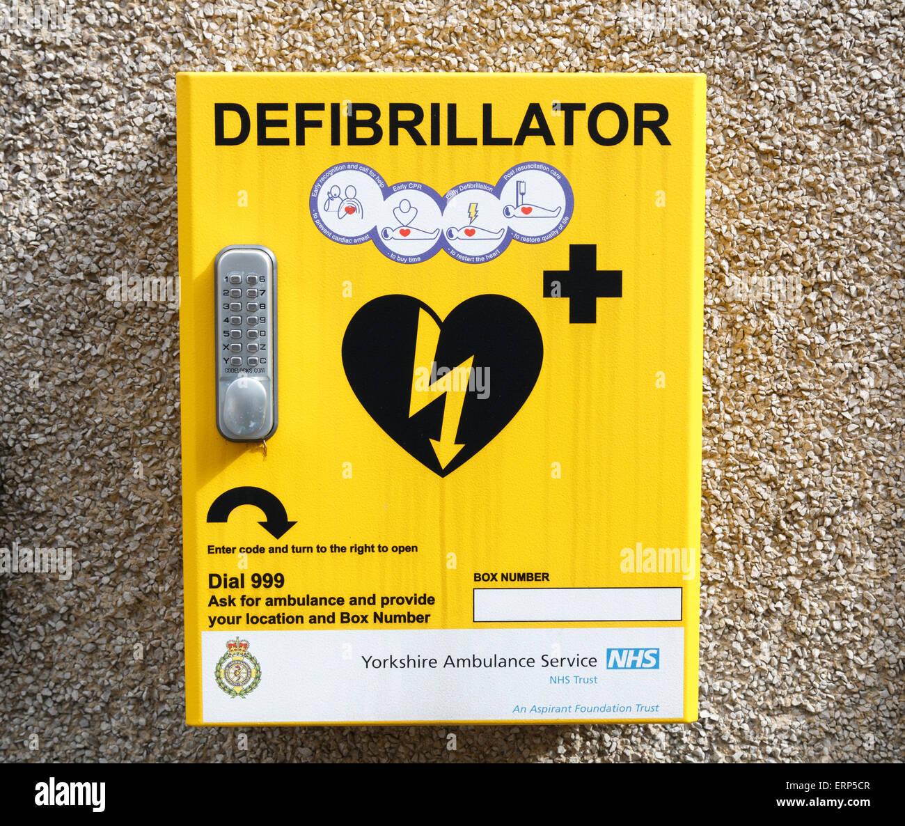 Defibrillator for public use. - Stock Image